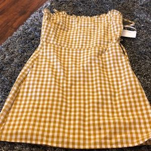 Gingham short dress